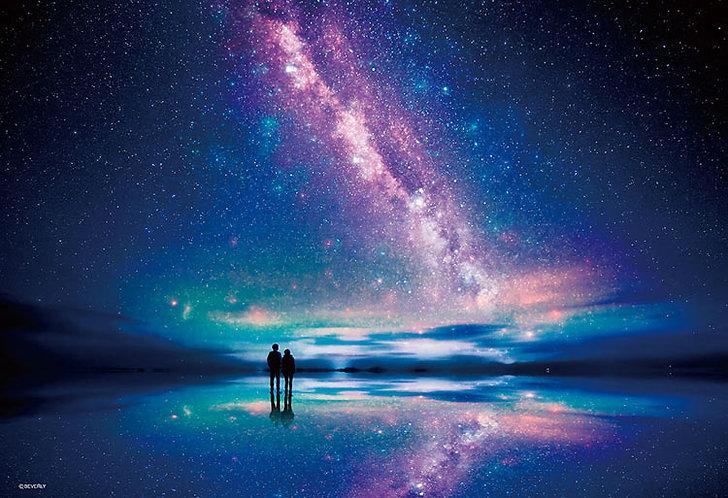 (迷你尺寸) 玻利維亞風景 - 壯麗星空鹽湖 1000塊 (26×38cm)