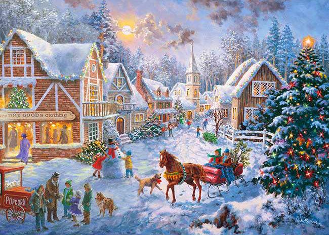 Nicky Boehme - 快樂雪景 500塊 (38×53cm)