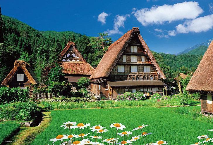 (迷你尺寸) 日本風景 - 美麗的白川鄉 1000塊 (26×38cm)