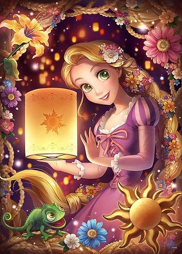 (夜光) 魔髮奇緣 - 少女的心 500塊 (35×49cm)