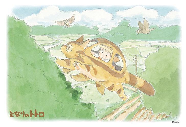 龍貓 - 貓巴士在空中散步 300塊 (26×38cm)
