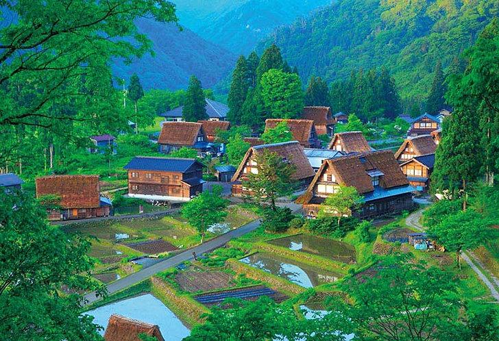(迷你尺寸) 日本風景 - 五箇山草屋 1000塊 (26×38cm)