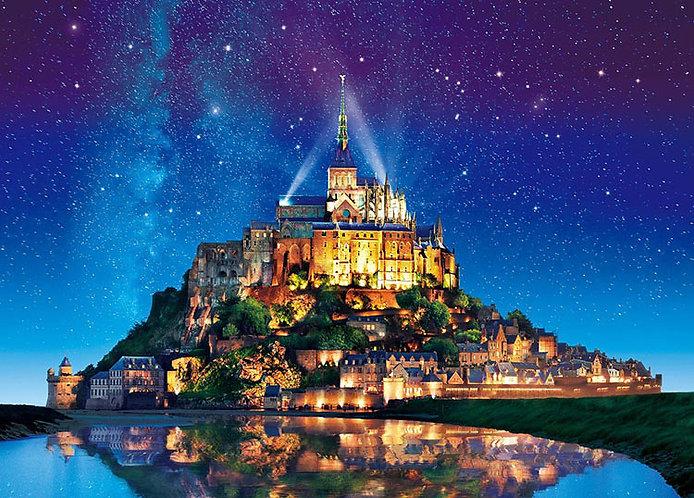 法國風景 - 聖米歇爾山星空 500塊 (38×53cm)