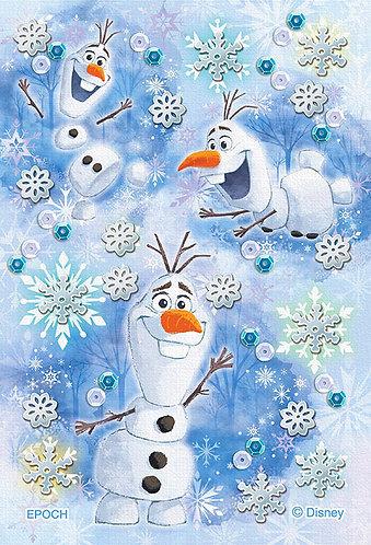 (布料質地) 魔雪奇緣 - 小雪人幸福時刻 70塊 (10×14.7cm)