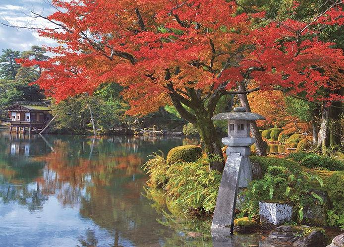 日本風景 - 紅葉之兼六園 500塊 (38×53cm)