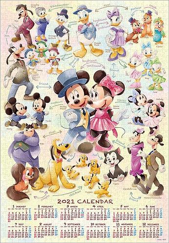 迪士尼 - 米奇與好友2021年日曆 1000塊 (51×73.5cm)