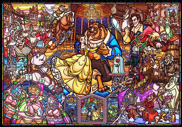 (環保樹脂) 美女與野獸 - 愛情故事彩繪 1000塊 (51×73.5cm)