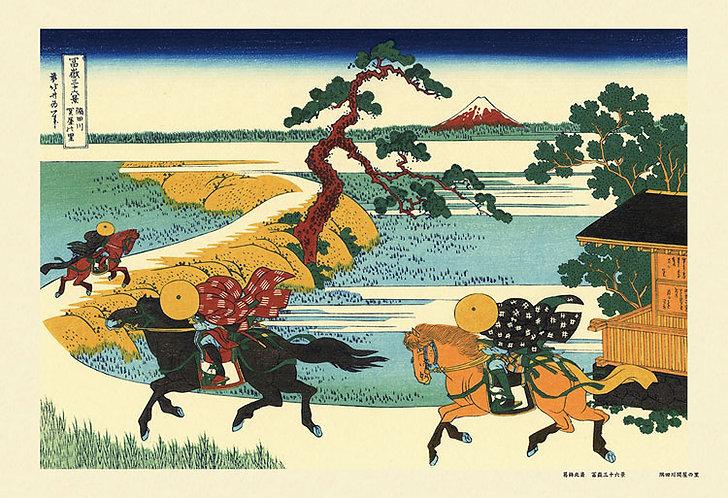 葛飾北齋 - 隅田川關屋 (冨嶽三十六景) 300塊 (26×38cm)