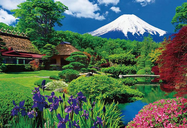 (迷你尺寸) 日本風景 - 忍野富士 2000塊 (49×72cm)