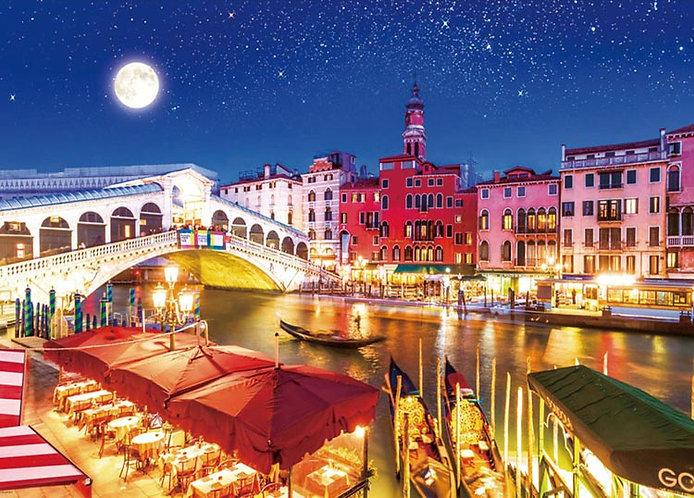 意大利風景 - 威尼斯的月夜 600塊 (38×53cm)