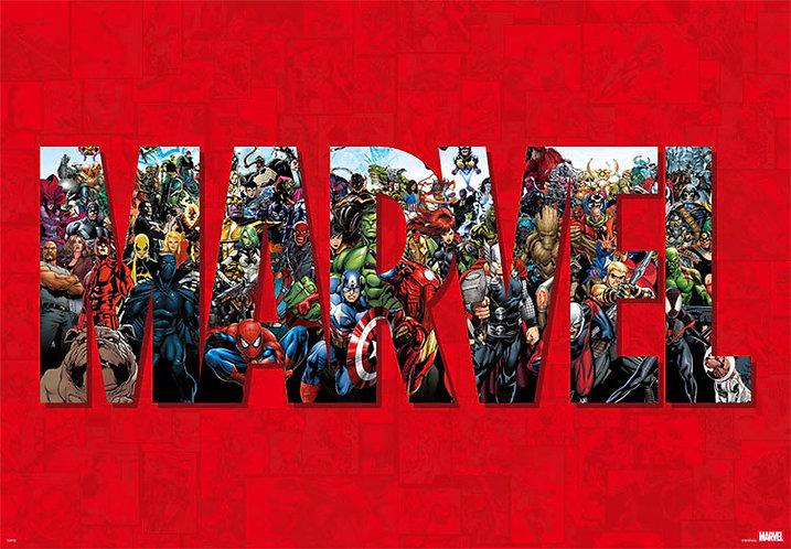 Marvel - 漫畫全角色 1000塊 (51×73.5cm)