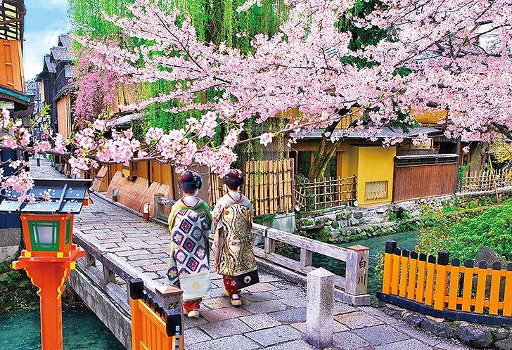 日本風景 - 櫻花達美橋 300塊 (26×38cm)