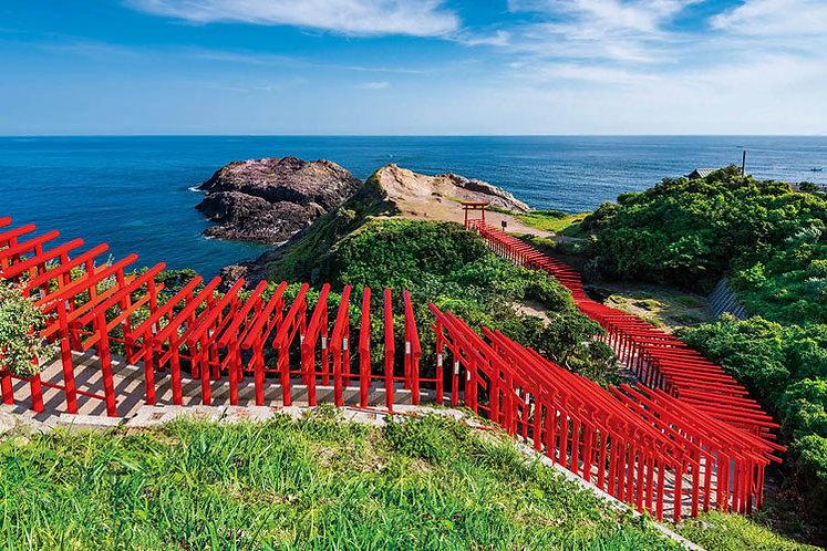 日本風景 - 元乃隅稲成神社 1000塊 (50×75cm)
