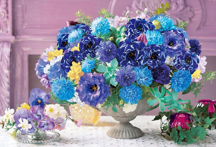 (迷你尺寸) 花藝 - 放鬆藍 1053塊 (26×38cm)