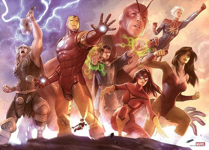 (環保樹脂) (迷你尺寸) Marvel - 復仇者聯盟 Team Iron Man 1000塊 (38×53cm)