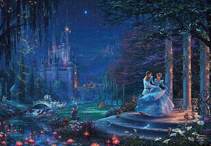 (帆布紋理) 仙履奇緣 - 灰姑娘在星光下跳舞 1000塊 (51×73.5cm)