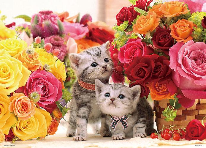 動物類 - 被玫瑰包圍 600塊 (38×53cm)