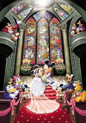 (鐳射閃面) 迪士尼 - 夢幻婚禮 500塊 (35×49cm)