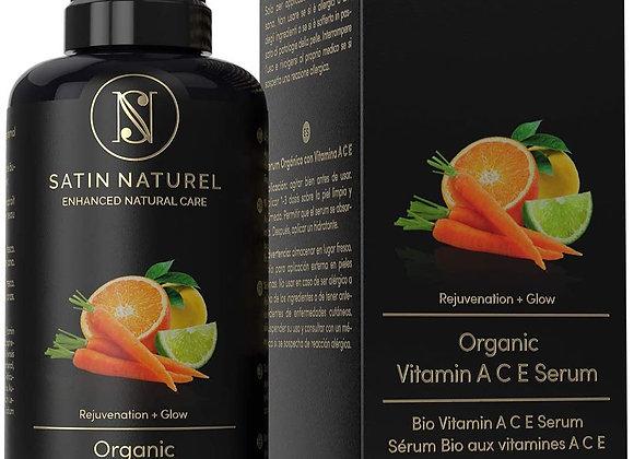 ORGANIC Anti-Wrinkle Serum w/Vitamin C & E, Hyaluronic Acid & Retinol - 100ml