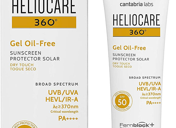 Heliocare 360 Oil-Free Gel SPF 50 50ml / Gel Sunscreen For Face