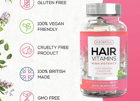 UK's number 1 Hair Loss Solution, Biotin, Hair Regrowth, High Potency