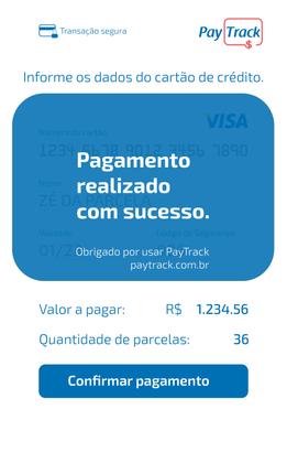 PayTrack | Checkout 03 PAGAMENTO COM SUC