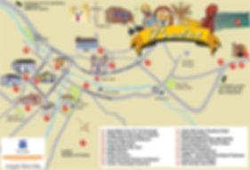 Mapa dos principais pontos turísticos de Prados