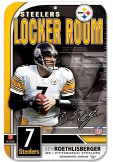 Steelers Roethlisberger Locker Room Sign