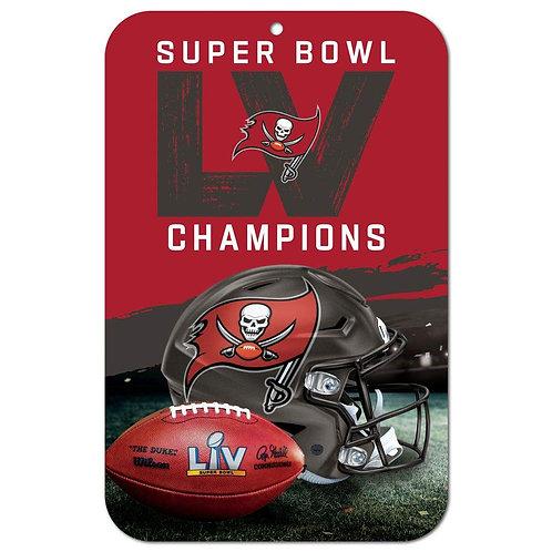 Super Bowl LV Buccaneers Champions Sign