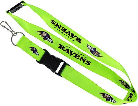 Ravens Lanyard Neon Green