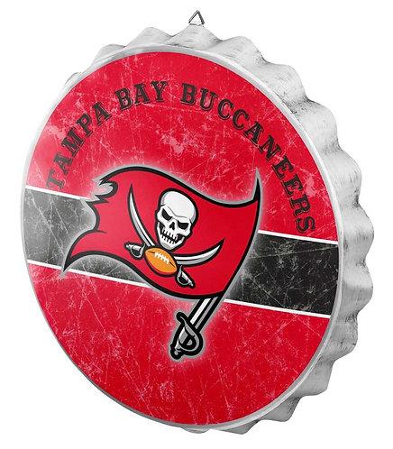 Buccaneers Bottle Cap Sign