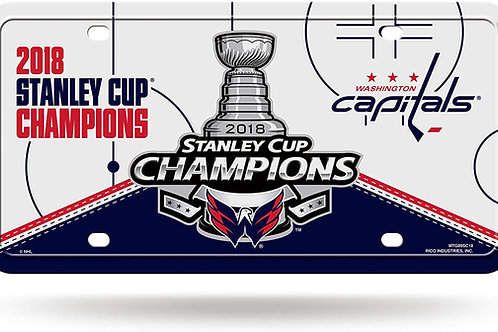 Stanley Cup 2018 Capitals License Plate