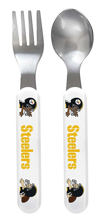 Steelers Fork and Spoon Set