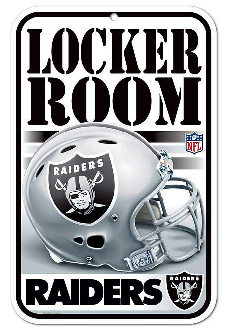 Raiders Locker Room Sign