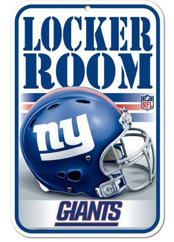 Giants Locker Room Sign