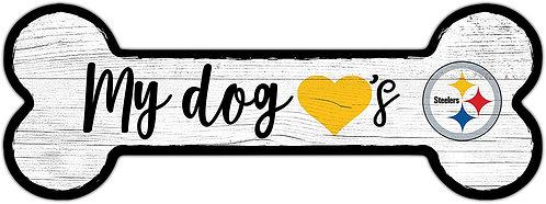 Steelers Dog Bone Sign