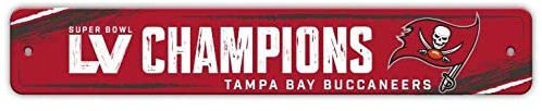 Super Bowl LV Buccaneers Street Sign