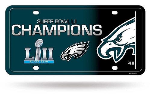Super Bowl LII Eagles License Plate