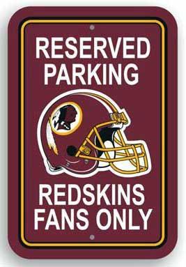Redskins Parking Sign