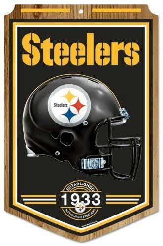 """Steelers """"Established"""" Wood Sign"""