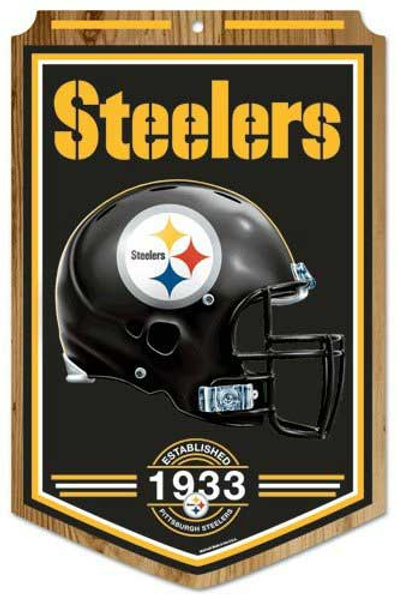 "Steelers ""Established"" Wood Sign"
