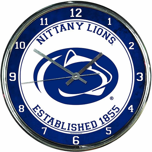 Penn State Chrome Clock