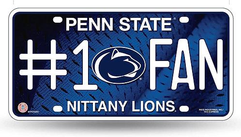 """Penn State """"#1 Fan"""" License Plate"""