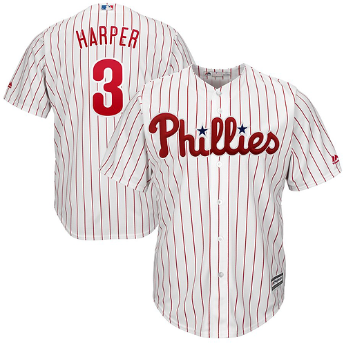 Phillies Harper Jersey Pin-Stripes