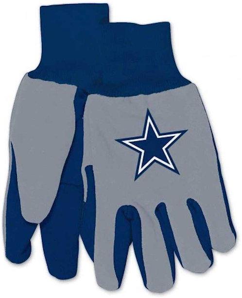 Cowboys Adult 2-Tone Gloves Gray/Blue