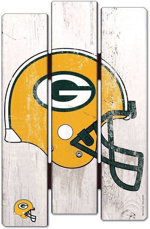 Packers Wood Fence Sign
