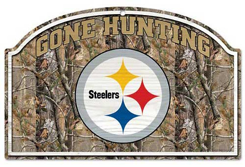 "Steelers ""Gone Hunting"" Sign"