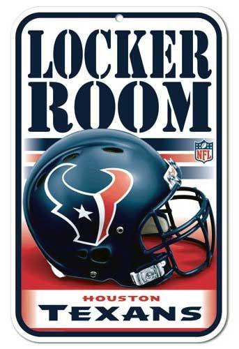 Texans Locker Room Sign