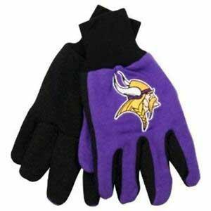 Vikings Adult 2-Tone Gloves