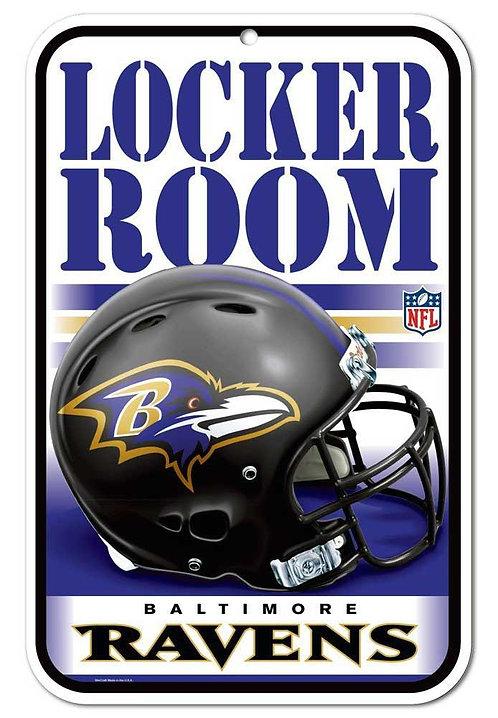 Ravens Locker Room Sign